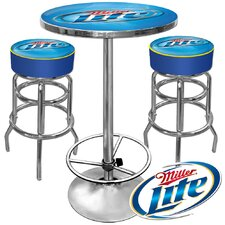 <strong>Trademark Global</strong> Ultimate Miller Lite Gameroom 3 Piece Pub Table Set