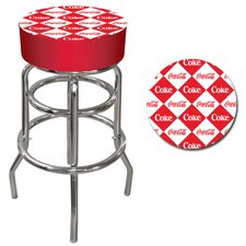 Checker Coca Cola Pub Stool