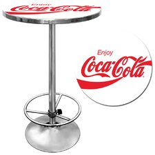 Enjoy Coke Pub Table in White