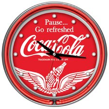 Wings Coca Cola Neon Clock with 2 Neon Rings