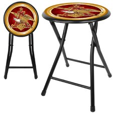 "Anheuser Busch A and Eagle 18"" Folding Stool in Black"