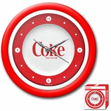 "<strong>Trademark Global</strong> Coca Cola 12"" 1970s Style Wall Clock"