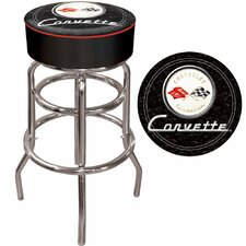 Corvette C1 Padded Bar Stool in Black