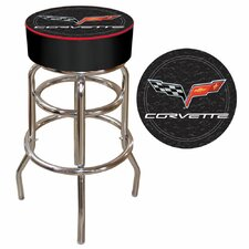 Corvette C6 Padded Bar Stool in Black