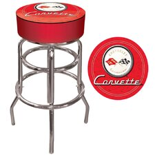 Corvette C1 Padded Bar Stool in Red