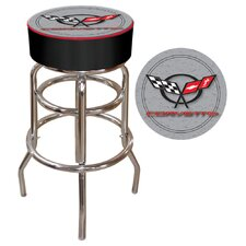 Corvette C5 Padded Bar Stool in Silver