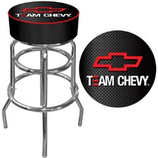 "30"" Team Chevy Racing Bar Stool with Cushion"