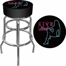 "30"" Shadow Babes Swivel Bar Stool with Cushion"