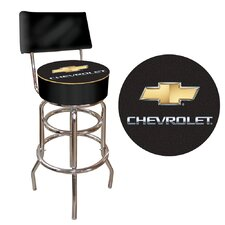 <strong>Trademark Global</strong> Chevrolet Swivel Bar Stool with Cushion