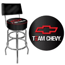 <strong>Trademark Global</strong> Team Chevy Racing Swivel Bar Stool with Cushion