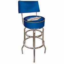 Fabulous Las Vegas Padded Bar Stool with Back