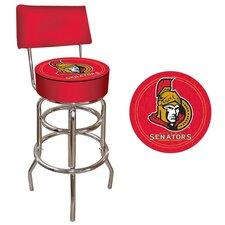 NHL Swivel Bar Stool with Cushion