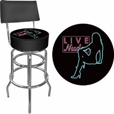 <strong>Trademark Global</strong> Shadow Babes - D Series - High Grade Padded Bar Stool with Back