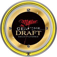 Miller Genuine Draft Neon Wall Clock