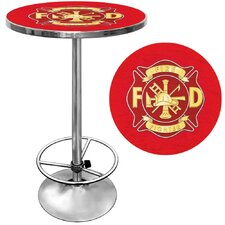 <strong>Trademark Global</strong> Fire Fighter Pub Table with Foot Rest