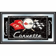 Corvette C1 Framed Mirror in Black