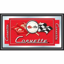 Corvette C1 Framed Mirror in Red