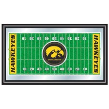 <strong>Trademark Global</strong> Iowa Football Field Framed Mirror