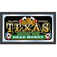 Texas Hold'em Framed Poker Mirror - Dead Money