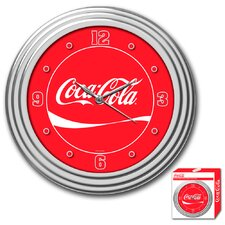 "<strong>Trademark Global</strong> Coca Cola 11.75"" Wall Clock"
