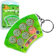 Mini Whack It Toy Game Keychain with Sound and Lights (Set of 5)