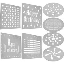 Cookware Decorating Stencil (Set of 8 )