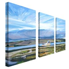 "<strong>Trademark Global</strong> Inverness Sky 3 Panel Wall Art by Colleen Proppe - 24"" x 12"""
