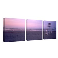 "Beach Chair by Preston, Canvas Art - 18"" x 18"" (Set of 3)"