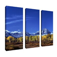 Autumn Tetons by Kurt Shaffer 3 Piece Photographic Print on Canvas Set