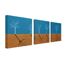 The March by Nicole Dietz 3 Piece Painting Print on Canvas Set