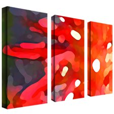"Crimson Sun by Amy Vangsgard, 3 Panel Wall Art  - 48"" x 36"""