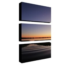 "Sun Down, Moon Up by Patty Tuggle, 3 Panel Wall Art  - 12"" x 24"" x 2"""