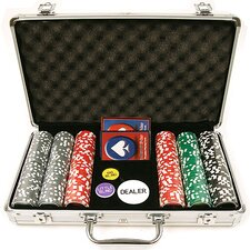 <strong>Trademark Global</strong> Clay Welcome to Las Vegas Chip Set with  Aluminum Case