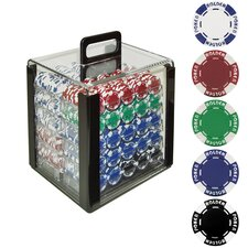 Holdem Poker Chip Set with Acrylic Carrier