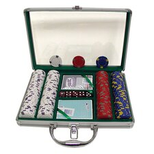 Pro Clay Casino Chips with  Clear Cover Aluminum Case