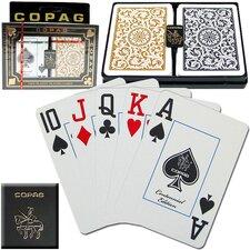 Copagt Poker Size Jumbo Index 1546 Black/Gold Setup