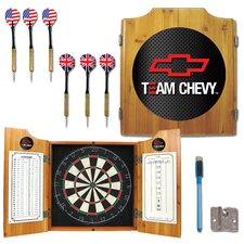 Team Chevy Racing Dart Cabinet in Medium Wood