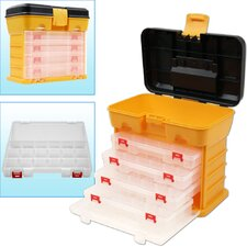 <strong>Trademark Global</strong> 53 Compartment Durable Plastic Storage Tool Box in Yellow