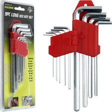 9 Piece Hawk Long Hex Key Set