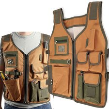 Nylon 7 Pocket Vest with 4 Adjustable Straps