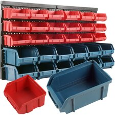 30 Bin Wall Mounted Parts Rack