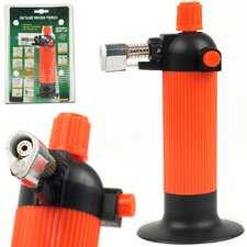 Self Igniting Refillable Butane Micro Torch with Ceramic Tip