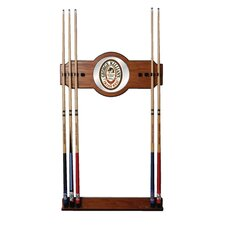 George Killian 2 piece Wood and Mirror Wall Cue Rack