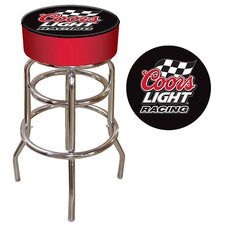 "30"" Coors Light Racing Bar Stool with Cushion"