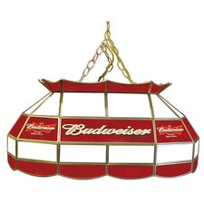 "Budweiser 28"" Stained Glass Pool Table Lamp"
