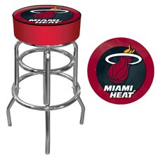 "31"" NBA Padded Swivel Bar Stool with Cushion"