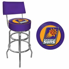NBA Swivel Back Bar Stool with Cushion