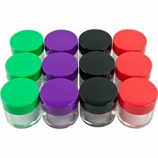 Color Coded Plastic Jars (Set of 12)