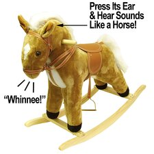 Happy Trails Plush Rocking Horse with Sound