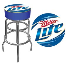 "30"" Miller Lite Bar Stool with Cushion"